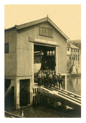 The 1919 erected lifeboat station